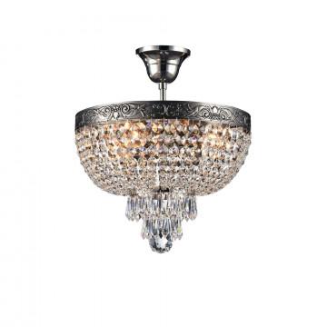 Потолочная люстра Maytoni Palace DIA890-CL-04-N, 4xE27x60W, черненое серебро, прозрачный, металл, хрусталь