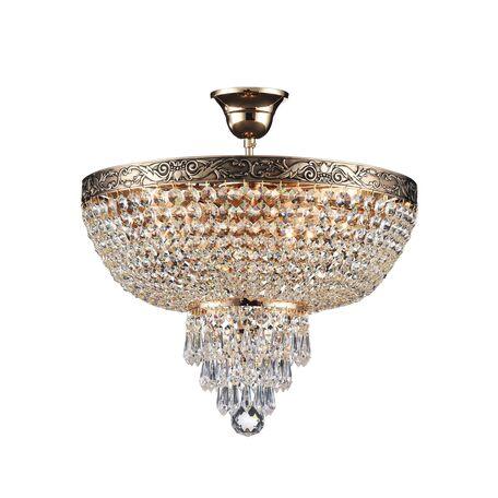 Потолочная люстра Maytoni Palace DIA890-CL-05-G, 5xE27x60W, черненое золото, прозрачный, металл, хрусталь