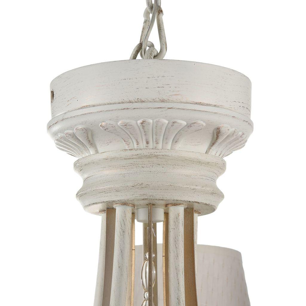 Потолочно-подвесная люстра Maytoni Enna ARM548-05-WG, 5xE14x40W, белый с золотой патиной, матовое золото, белый, коньячный, металл, пластик - фото 7