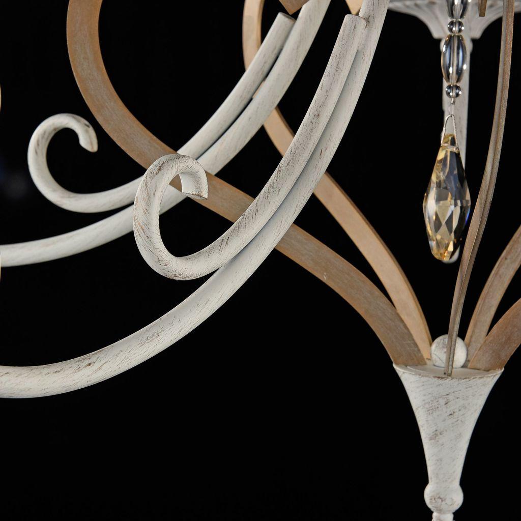 Потолочно-подвесная люстра Maytoni Enna ARM548-05-WG, 5xE14x40W, белый с золотой патиной, матовое золото, белый, коньячный, металл, пластик - фото 8