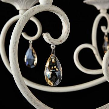Потолочно-подвесная люстра Maytoni Enna ARM548-07-WG, 7xE14x40W, белый с золотой патиной, матовое золото, белый, коньячный, металл, пластик - миниатюра 7