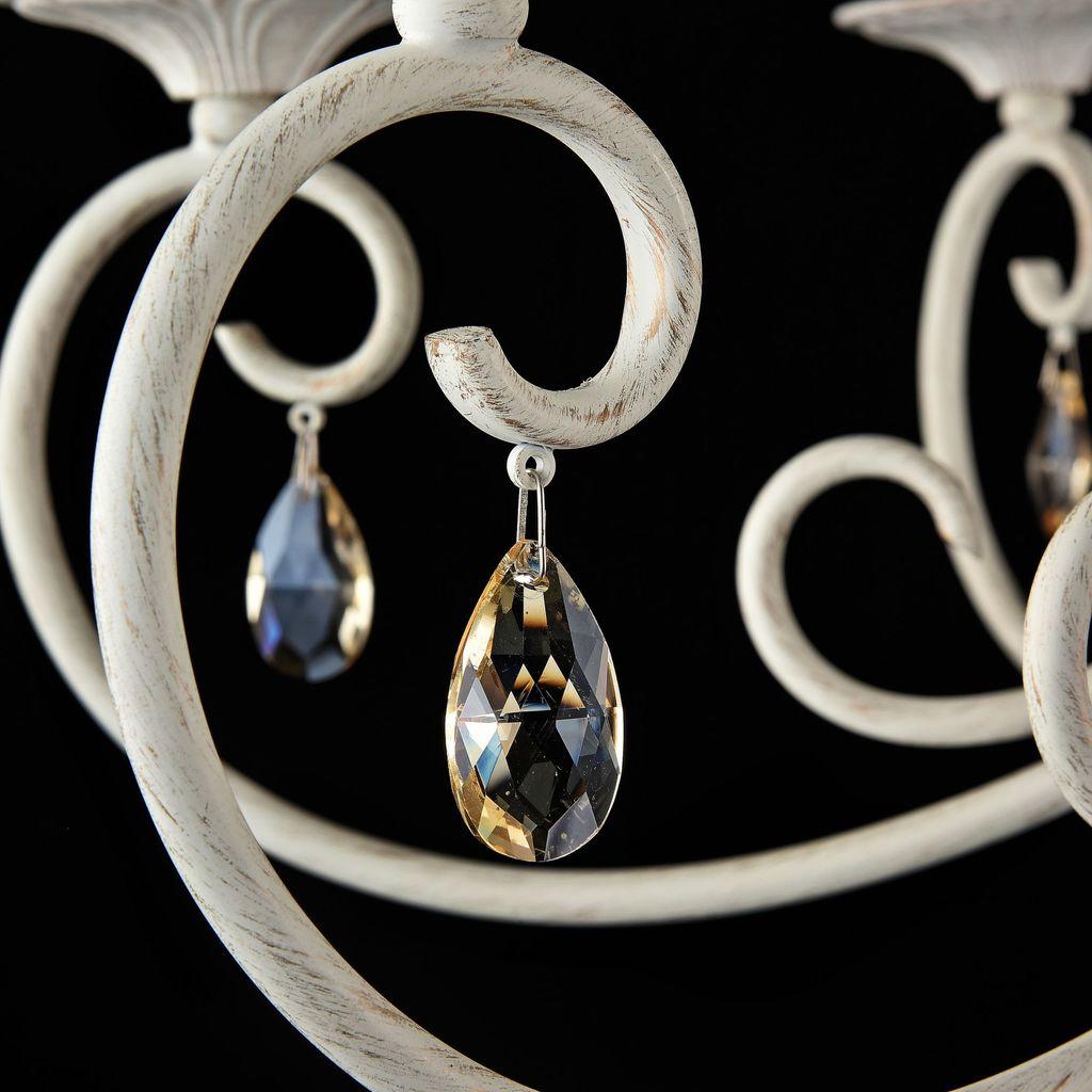 Потолочно-подвесная люстра Maytoni Enna ARM548-07-WG, 7xE14x40W, белый с золотой патиной, матовое золото, белый, коньячный, металл, пластик - фото 7