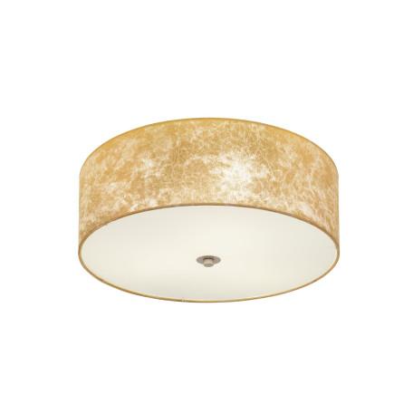 Потолочный светильник Eglo Viserbella 97642, 3xE27x60W, бежевый, матовое золото, металл, текстиль