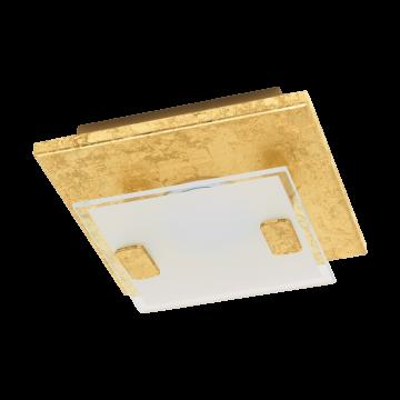 Потолочный светодиодный светильник Eglo Vicaro 1 97757, LED 2,5W, золото, матовый, металл, стекло