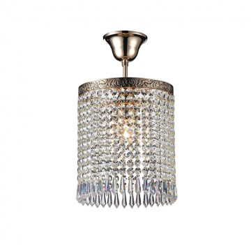 Потолочный светильник Maytoni Sfera DIA784-CL-01-G, 1xE27x60W, черненое золото, прозрачный, металл