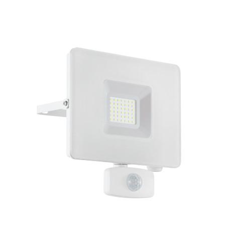 Светодиодный прожектор Eglo Faedo 3 33158, IP44, LED 30W 5000K 2750lm, белый, металл, металл со стеклом, стекло