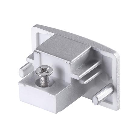 Концевая заглушка для шинопровода Novotech Port 135087, серебро, пластик
