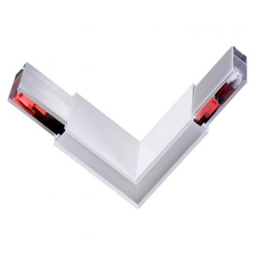 L-образный соединитель для модульной системы Novotech Iter 135078, белый, металл