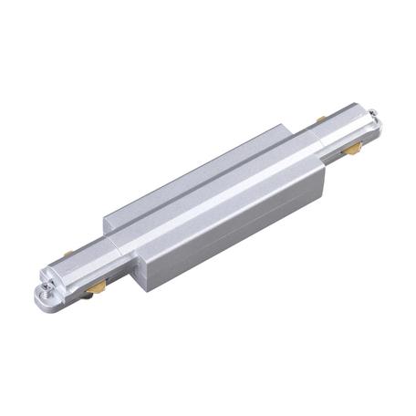 Прямой соединитель для шинопровода Novotech Port 135081, серебро, пластик