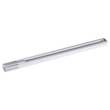 Шинопровод в сборе с питанием и заглушкой Novotech Port 135080, белый, серебро, металл