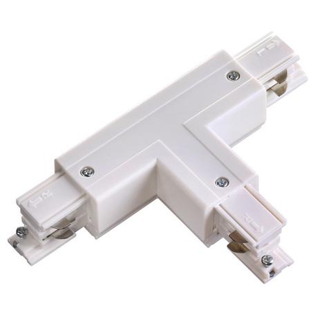 T-образный левый соединитель для шинопровода Novotech Port 135056, белый, пластик