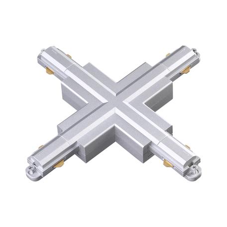 X-образный соединитель для шинопровода Novotech Port 135085, серебро, пластик