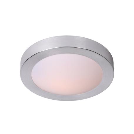 Потолочный светильник Lucide Fresh 79158/01/12, IP44, 1xE27x20W, матовый хром, металл с пластиком, пластик