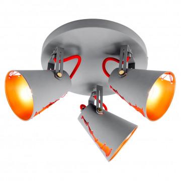 Потолочная люстра с регулировкой направления света Lussole Loft Bethel LSP-8021, IP21, 3xE14x40W, серый, металл