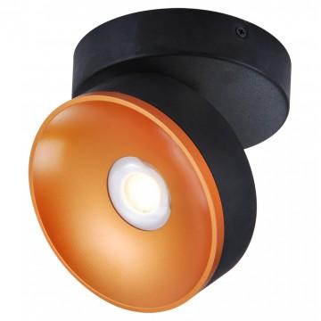 Потолочный светодиодный светильник с регулировкой направления света Lussole Loft Kusilvak LSP-8017, IP21, LED 5W 4000K, черный, металл