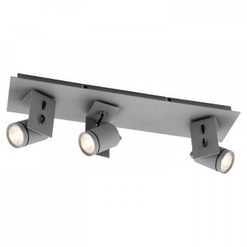 Потолочный светильник с регулировкой направления света Lussole Loft Dillingham LSP-8023, IP21, 3xGU10x50W, серый, металл
