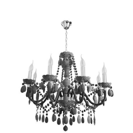 Подвесная люстра Arte Lamp Morris A8889LM-8GY, 8xE14x60W, серый, пластик