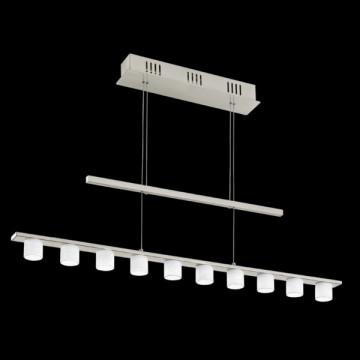 Подвесной светильник Eglo Pulsano 90934, никель, белый, металл, стекло