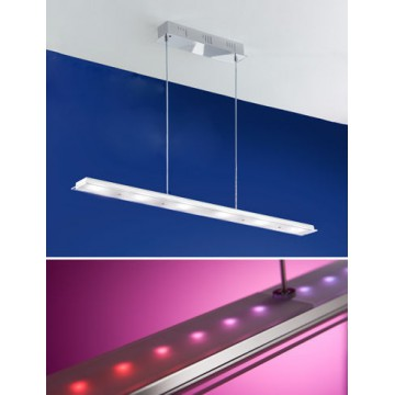 Подвесной светильник Eglo Mysterio 91079, хром, белый, металл, металл со стеклом
