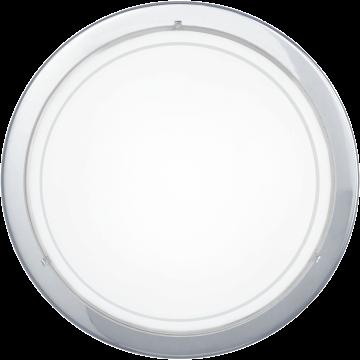 Потолочный светильник Eglo Planet 1 83155, 1xE27x60W, хром, белый, металл, стекло