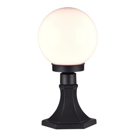 Садово-парковый светильник Favourite Pilastri 1507-1T, IP44, 1xE27x13W, черный, белый, металл, пластик