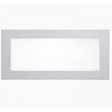 Светодиодная панель Eglo Glenn 93653, LED 5W 3000K 380lm, серебро, металл с пластиком