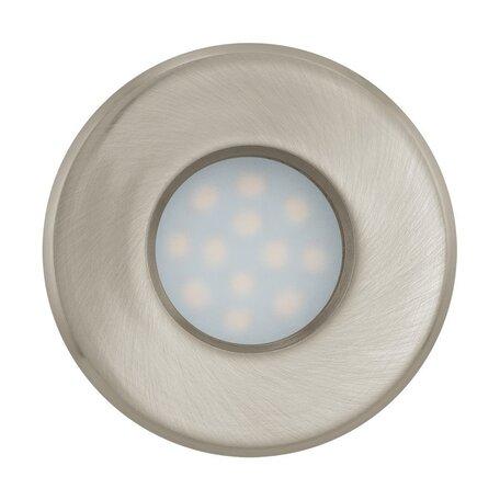 Встраиваемый светильник Eglo Igoa 93216, IP44, 1xGU10x5W, никель, металл