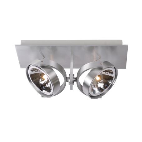 Потолочный светильник с регулировкой направления света Lucide Spectrum 10981/22/12, 2xG53x50W, сталь, металл