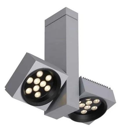 Потолочный светодиодный светильник с регулировкой направления света Lucide Lita-Lux 18154/32/36, LED 36W 3000K 1350lm, серый, металл