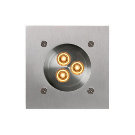 Встраиваемый в уличное покрытие светодиодный светильник Lucide Els 10863/23/12, IP67, LED 3W 4500K, сталь, металл