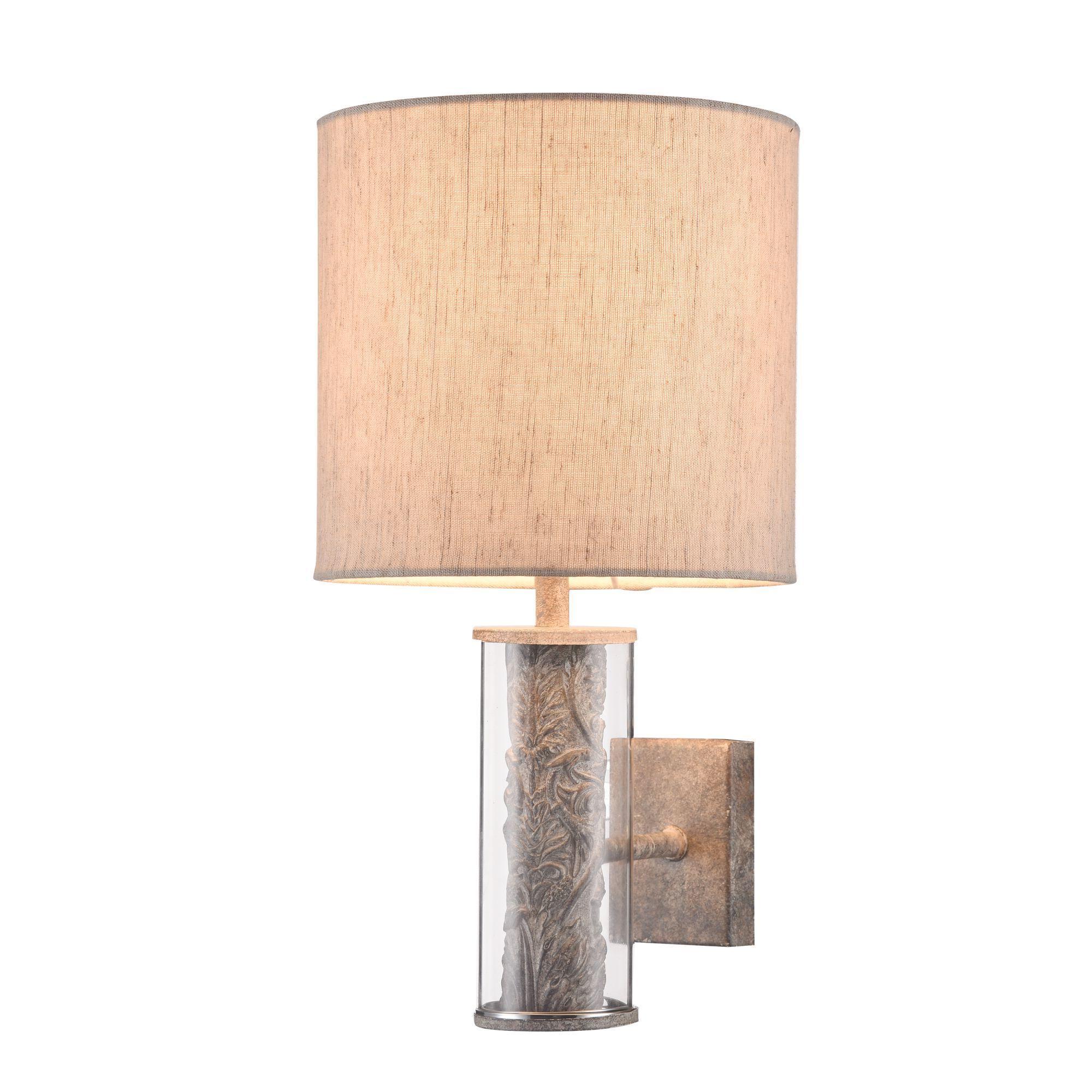 Бра Maytoni Maryland ARM526WL-01GR, 1xE14x40W, серый с прозрачным, серый, стекло с металлом, текстиль - фото 2