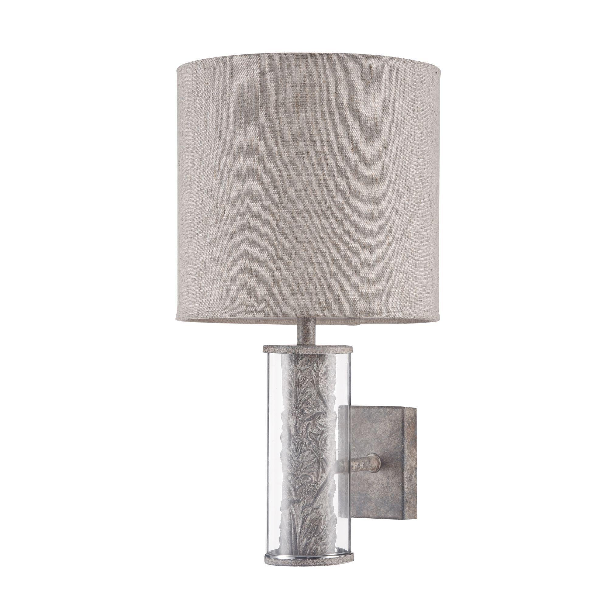 Бра Maytoni Maryland ARM526WL-01GR, 1xE14x40W, серый с прозрачным, серый, стекло с металлом, текстиль - фото 3