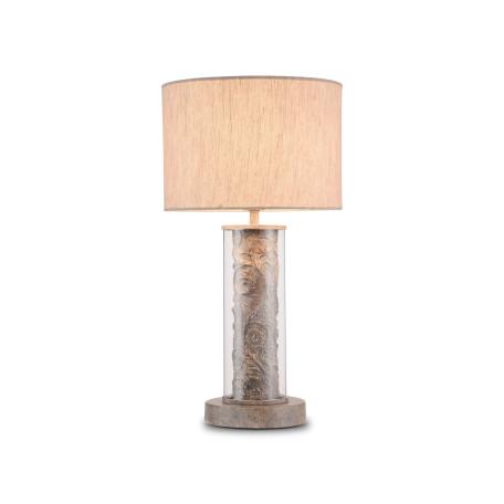 Настольная лампа Maytoni Maryland ARM526TL-01GR, 1xE27x40W, серый с прозрачным, серый, стекло с металлом, текстиль