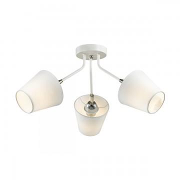 Потолочная люстра с регулировкой направления света Lumion Lori 3748/3C, 3xE27x60W, белый, хром, металл, текстиль