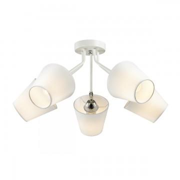 Потолочная люстра с регулировкой направления света Lumion Lori 3748/5C, 5xE27x60W, белый, хром, металл, текстиль