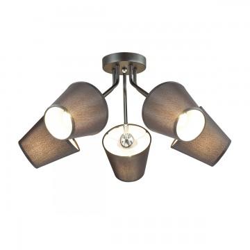 Потолочная люстра с регулировкой направления света Lumion Lori 3749/5C, 5xE27x60W, черный, металл, текстиль