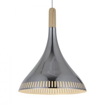 Подвесной светильник ST Luce Agilita SL710.103.01, 1xE27x60W, хром, коричневый, дерево, металл