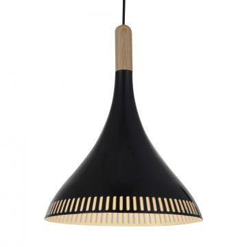 Подвесной светильник ST Luce Agilita SL710.403.01, 1xE27x60W, коричневый, черный, дерево, металл