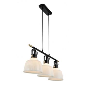 Подвесной светильник с регулировкой направления света ST Luce Aletante SL714.043.03, 3xE27x60W, черный, белый, металл, стекло