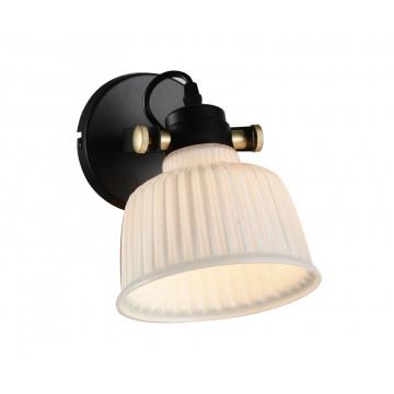 Потолочный светильник с регулировкой направления света Evoluce Aletante SL714.401.01, 1xE14x40W, черный, белый, металл, стекло