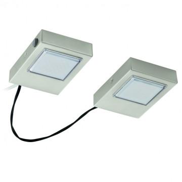 Мебельный светодиодный светильник Eglo Lavaio 94516, LED 7,2W 3000K 560lm CRI>80, никель, металл, пластик