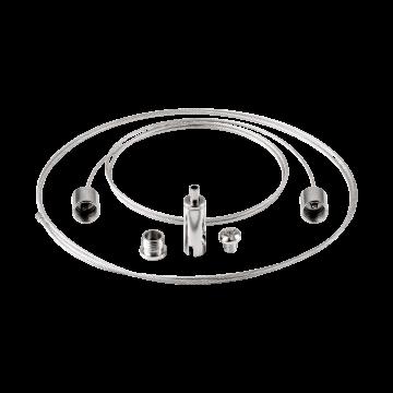 Набор для подвесного монтажа светильника Eglo Salobrena 1 61355, хром, металл
