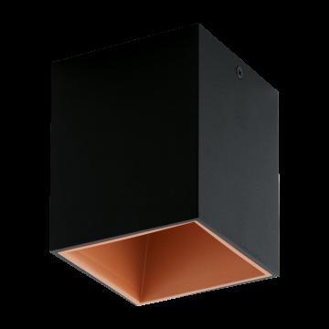 Потолочный светодиодный светильник Eglo Polasso 94496, LED 3,3W 3000K 340lm, черный, металл
