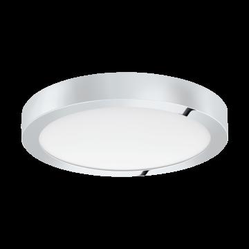 Потолочный светодиодный светильник Eglo Fueva 1 96246, IP44, LED 22W, 3000K (теплый), белый, хром, металл, пластик