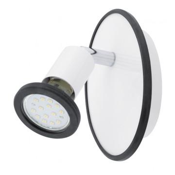 Потолочный светильник с регулировкой направления света Eglo Modino 94171, 1xGU10x3W, белый, хром, черный, металл, пластик