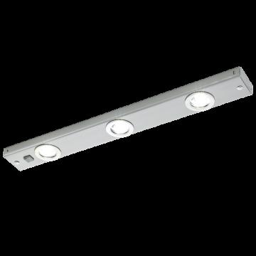 Мебельный светодиодный светильник Eglo Kob LED 93707, LED 6,9W 3000K 780lm CRI>80, никель, металл