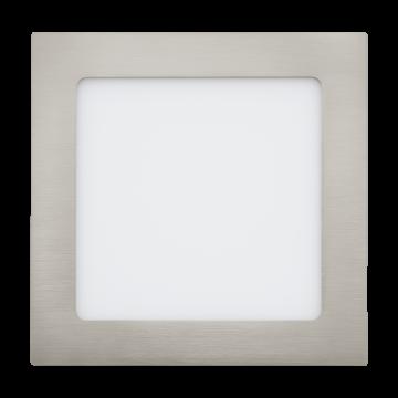 Встраиваемая светодиодная панель Eglo Fueva 1 31674, LED 10,9W 4000K 1350lm CRI>80, никель, металл с пластиком, пластик