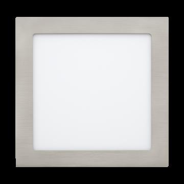 Встраиваемая светодиодная панель Eglo Fueva 1 31678, LED 18W, никель, металл, пластик