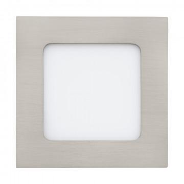 Светодиодная панель Eglo Fueva 1 95276, LED 5,5W 4000K 700lm CRI>80, никель, металл с пластиком, пластик