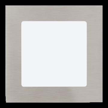 Встраиваемая светодиодная панель Eglo Fueva 1 95276, LED 5,5W, никель, металл, пластик